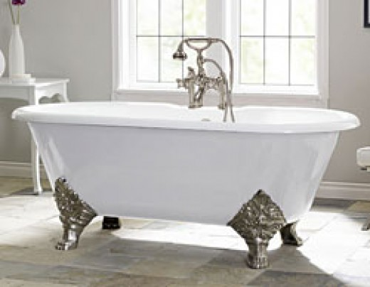 This Is A Picture Of A Double Ended Style Clawfoot Tub