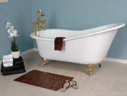 This Is A Picture Of A Slipper Style Clawfoot Bathtub