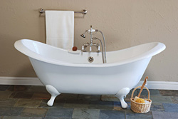 This Is A Picture Of A Double Slipper Style Clawfoot Bathtub