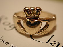 This is a traditional image of a Claddagh Ring
