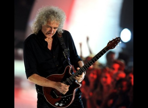 Brilliant choice for back-up Brian May from Queen