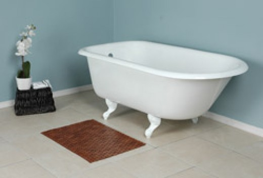 this is a picture of a classic style clawfoot bathtub