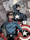 BUCKY BARNES, (front in picture,) was Capt. America's famous sidekick. He helped Cappy win many battle against evil, but his only claim to fame, he got to die off in a Marvel Comics edition that is a collector's item.