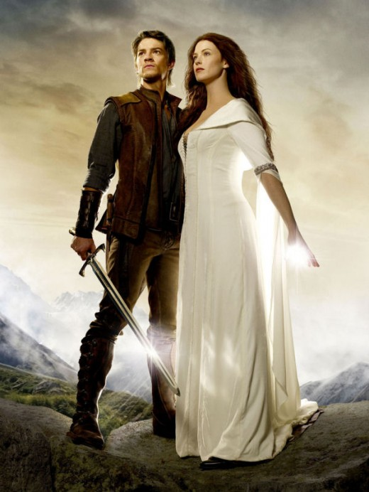 This is a picture of the TV series Richard and Kahlan.  While I liked Craig Horner, he isn't what we all thought Richard should look like -  On the other hand, Kahlan was cast perfectly...