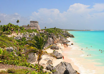The Maya ruins at Tulum, a popular shore excursion from Cozumel, Mexico.