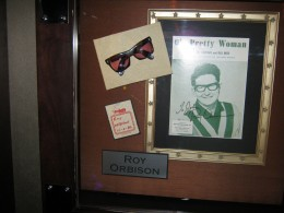 Roy Orbison's exhibit, even included the glasses!