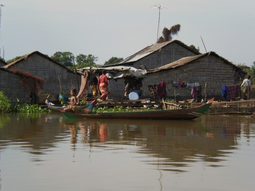 Floating Houses, Tonle Sap Lake, Cambodia