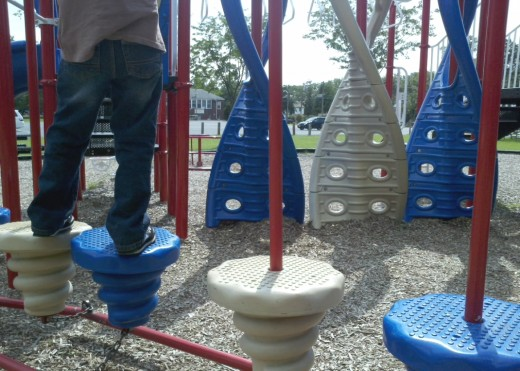 Wood Park in Cinnaminson has a playground full of challenges.