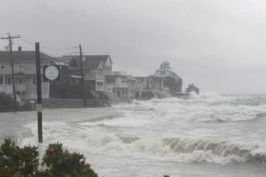 Point Beach in Milford, CT during Hurricane irene on Aug 28, 2011
