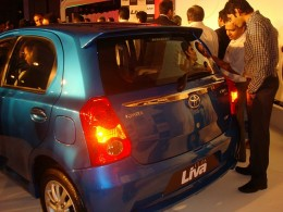 Toyota Etios Electric Blue Rear
