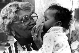 Dedicated to Mother Hale who started the Hale House in 1969 at the age of 64, for babys and toddlers with addictions and aids.By 1991 The Hale House has cared for 1,000 children. Mother Hale died Dec.18.1992...God Is Love. The Hale House Is Still