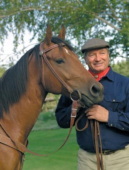 Monty Roberts, pictured, is the patron of a horse sanctuary that helps troubled teenagers