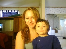 Amy and Elijah(Daughter and Grandson)