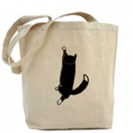 Climbing Cat canvas bag from author's artwork
