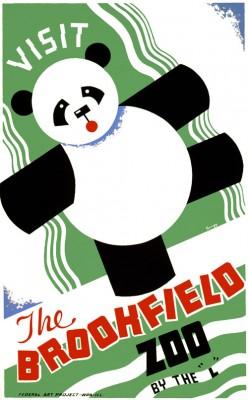 free cross stitch pattern Panda zoo poster