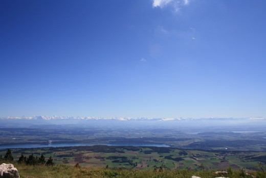 Chasseral, Switzerland - Panorama of 3 Lakes, Forest and Alp Mountains