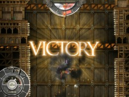 Winning the level after surviving for a minute.