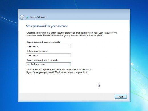 Now you will be asked to enter password for administrative user.