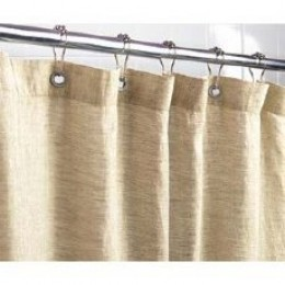 Picture Of A Hemp Shower Curtain.  If You Can Notice, It Is Very Thick Compared To Other Types.