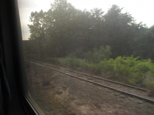 View from train to DC