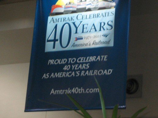 Amtrak  celebrating 40 years of service