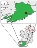 Map location of Cork City, Ireland