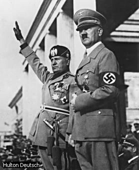 Mussolini and Adolf Hitler