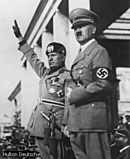 Mussolini and Adolf Hitler