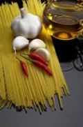 Pasta with garlic and chillies