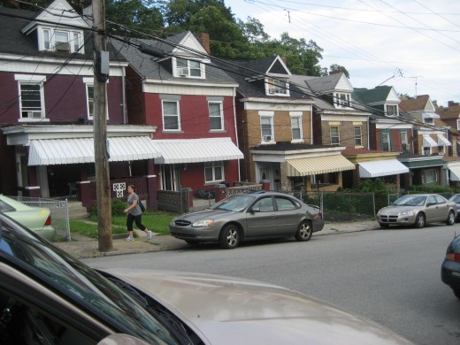 Typical Pittsburgh neighborhood