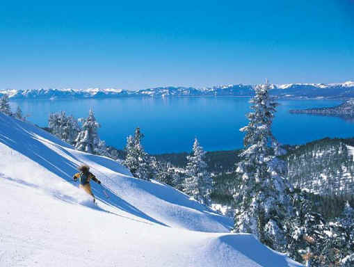 Pristine Lake Tahoe Skiing