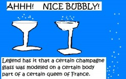 Champagne went wherever the French were sure to go.