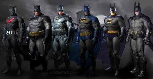 The retail specific skins for Batman: Arkham City. You would need to pre-order at four different places to get them all. There's also another character and more maps as well.