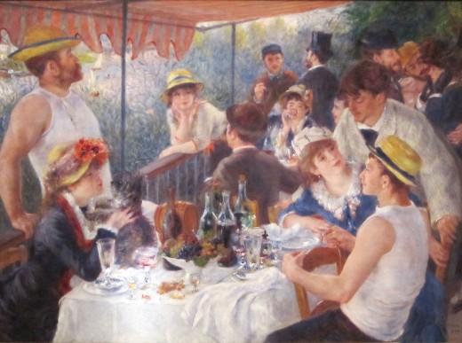 Le djeuner des canotiers by Renoir