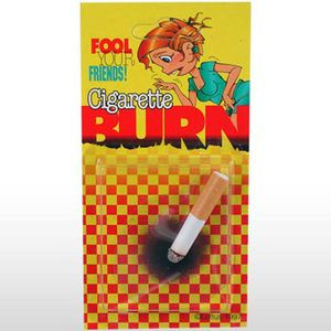Yeah, impress the girls with your manly ways by showing them your cigarette burn. Now it looks like this gift is only for clothes and furniture, but you can make it work.