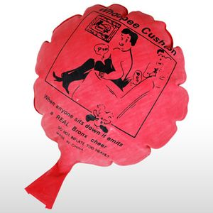 If you place this whoopee cushion underneath the cushions in a chair, it sounds like a person passing gas when they sit down. Use it on dad, sister, maybe an uncle. Good times are coming.