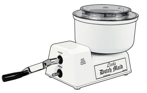 Little Dutch Maid Hand Crank Mixer