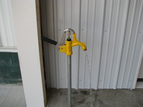 No worry about placing this valve in concrete. Top screws off to replace valve parts under the frost line.