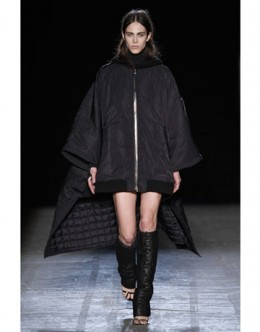 Alexander Wangs puffer-poncho from the Fall 2011 Runway