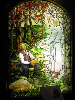 THE ANGEL MORONI SHOWS JOSEPH SMITH JR THE GOLD TABLETS