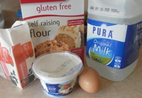 Ingredients for pancake batter