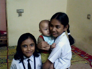 Neha and Helna with baby boy