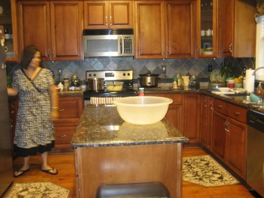 The Preston's beautiful kitchen