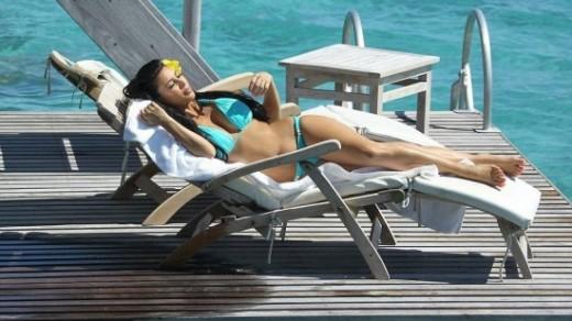 Kim Kardashian in Bora Bora