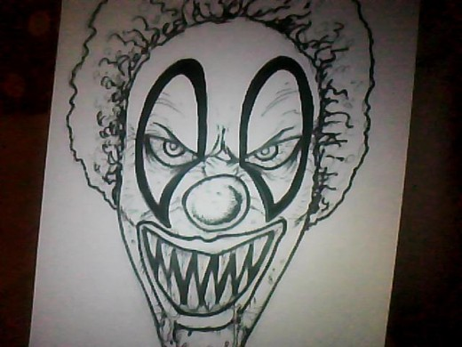Drawing An Evil Clown by Wayne Tully.
