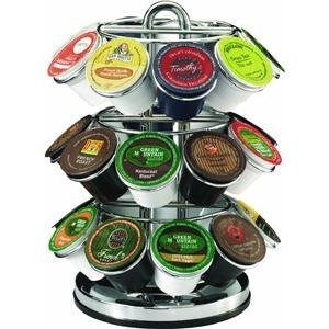 k-cups on a rack