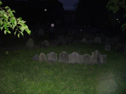 Yes those are orbs you see in the graveyard. What are orbs and why do they show up on photos. Have you been a paranormal witness to this type of activity.