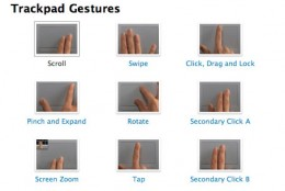 Macbook Touchpad Swipe Shortcuts