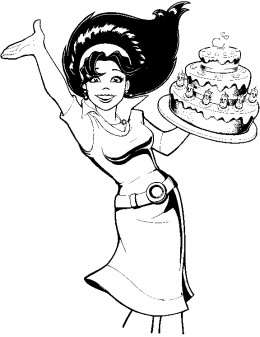 Cakemania Coloring Pages Free Colouring Pictures to Print and Colour - waitress