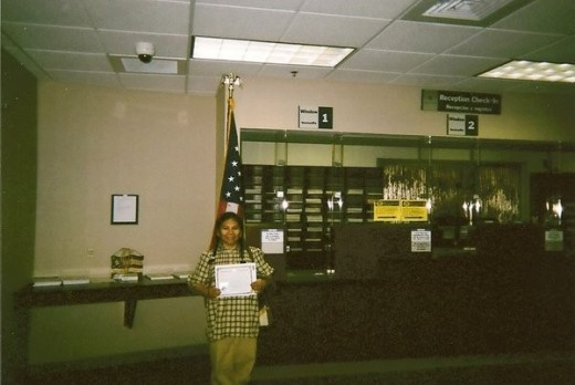 Me and my precious Naturalized American Certificate at the USCIS Bldg in Newark, NJ